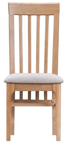 Utah Slat Back Dining Chair W/ Fabric Seat