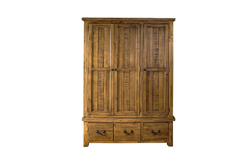 Cotswold Rustic 3 Door 3 Drawer Wardrobe