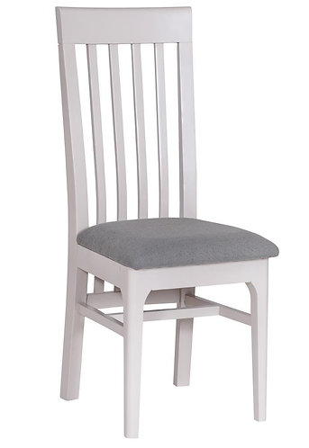 Utah Painted Slat Back Chair W/ Fabric Seat (Pair)