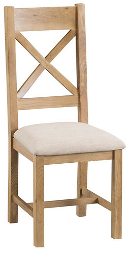 Lowa Cross Back Dining Chair W/ Fabric Seat
