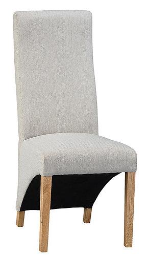 Wave Back Chair - Plain Cappucino (Pair)