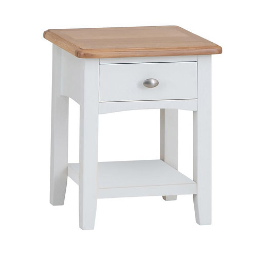 Nevada 1 Drawer Lamp Table