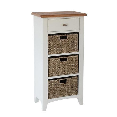 Nevada 1 Drawer 3 Basket Cabinet