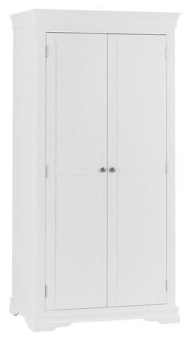 Washington White 2 Door Full Hanging Wardrobe