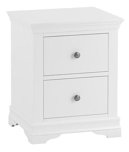 Washington White Large Bedside Cabinet