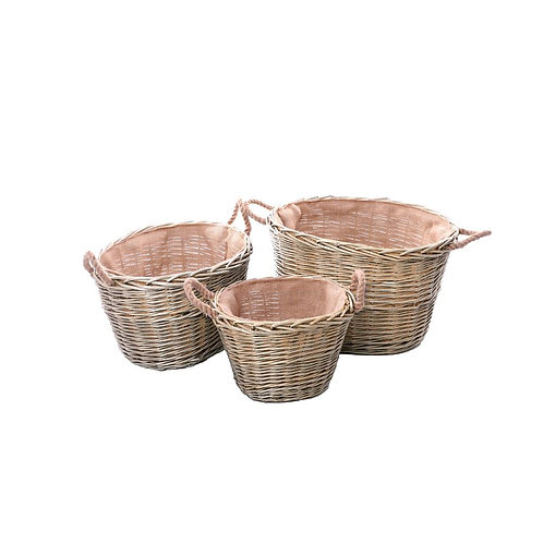 Wyoming Set of 3 Log Baskets