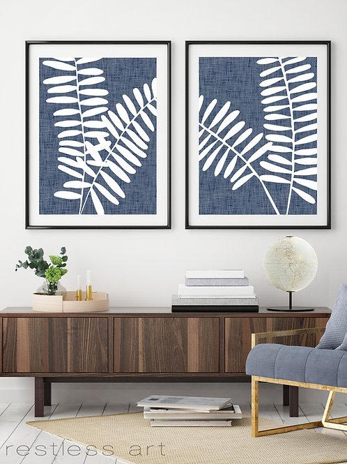 Linen Stems | Blue