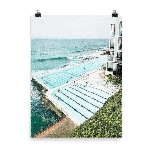 "Bondi Beach   Icebergs Pool 18x24"" Print"