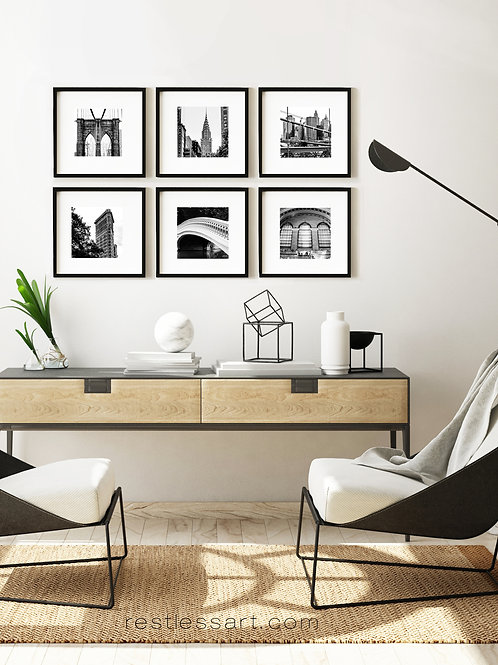 Black + White NYC  | Square Set