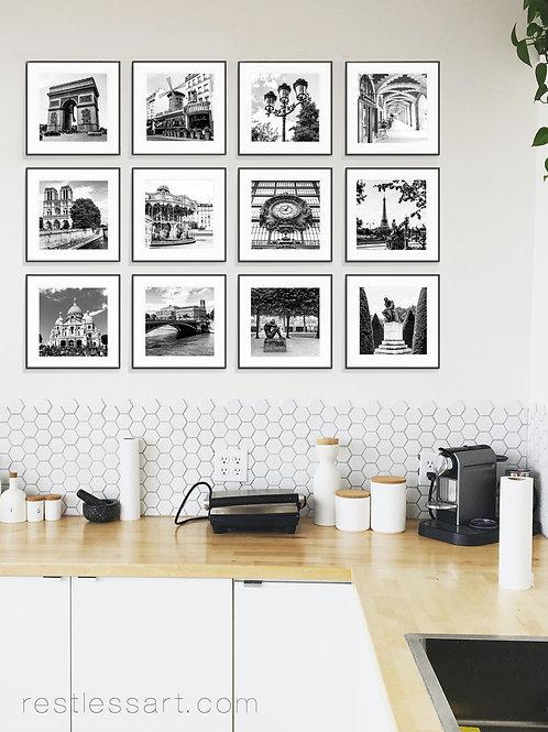 Black + White Paris | Square Set