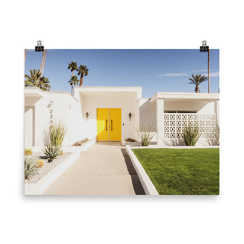 "Palm Springs | Yellow Door 18x24"" Print"