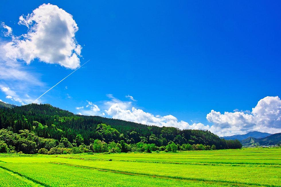 青空と山の風景