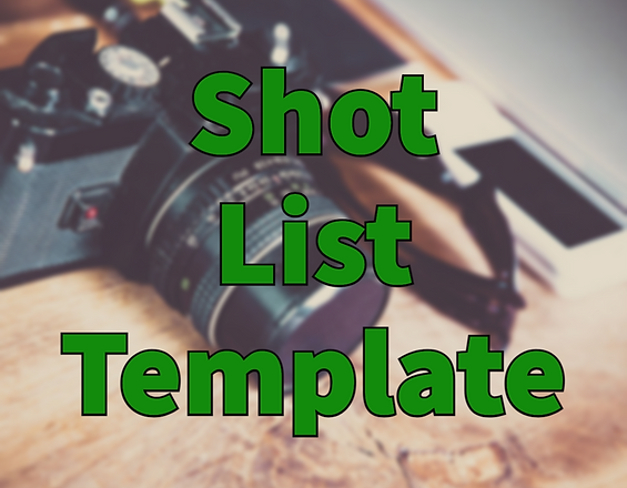 FREE Shot List Template