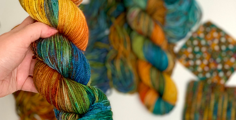 Autumn Leaves- Hand dyed yarn