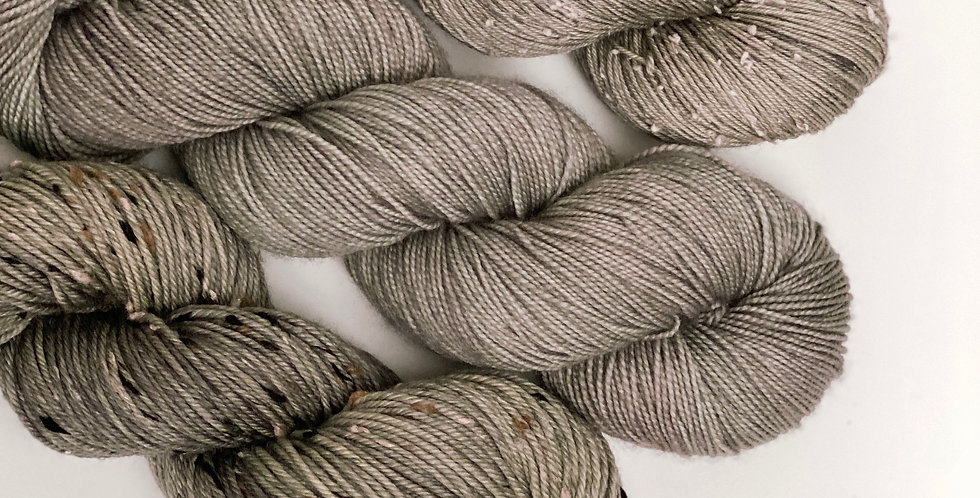 Pewter- Hand dyed yarn
