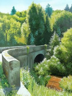 Pont ensoleillé