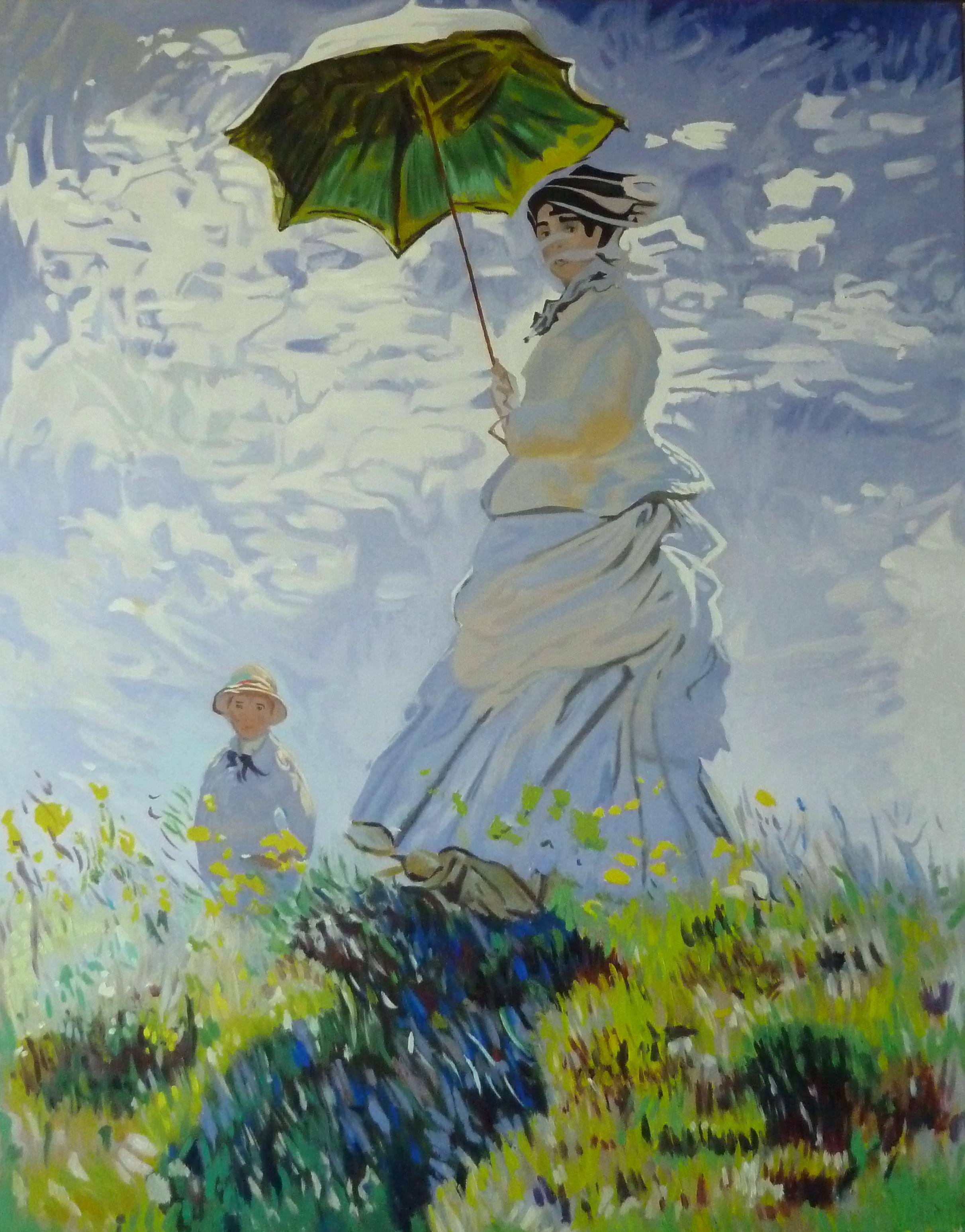 Femme à l'ombrelle (vers la gauche)