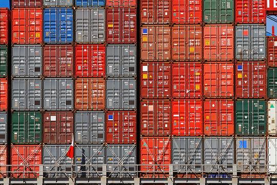 La carga del envío Contenedores
