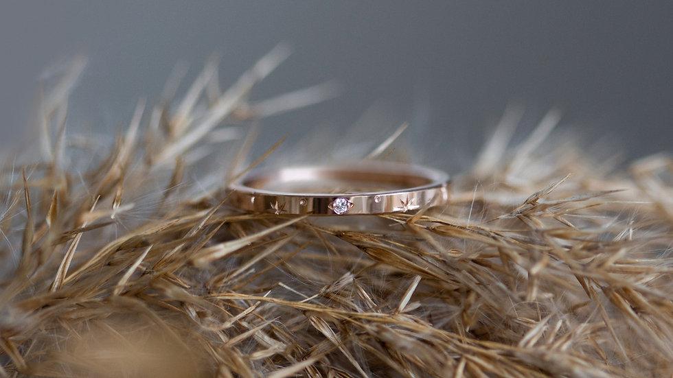 """""""Stella"""" - Sternschnuppen - Ring mit Diamant"""