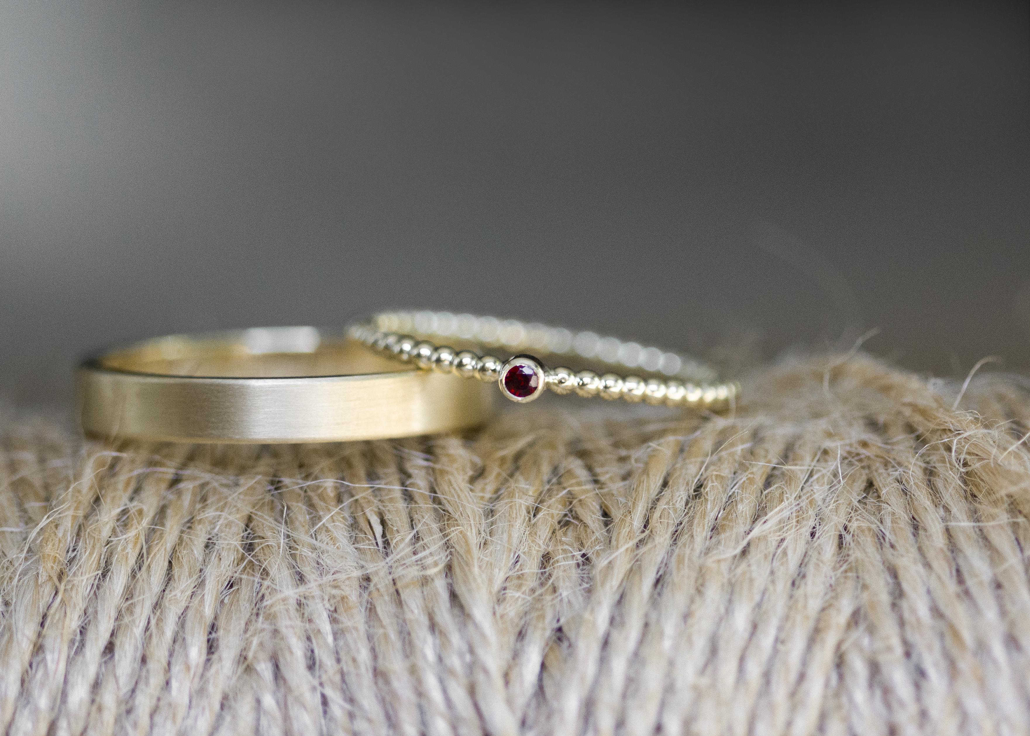Matter Ring & Kugelring - Gelbgold