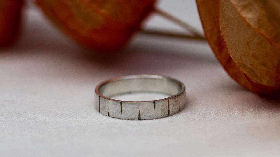 Schatzkiste: Baumtextur - Ring / Ringgröße 64,5