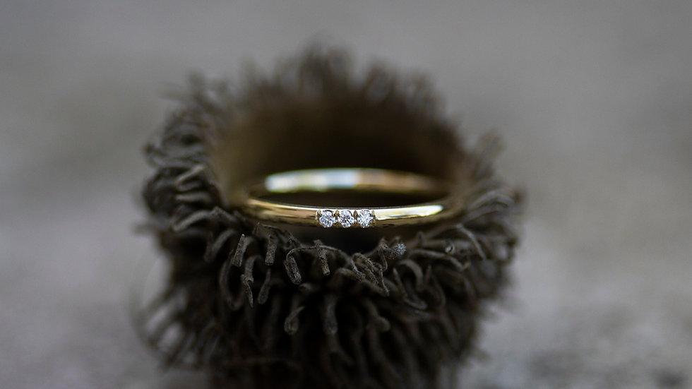 """Orlanda"" - Runder Ring mit drei Diamanten"