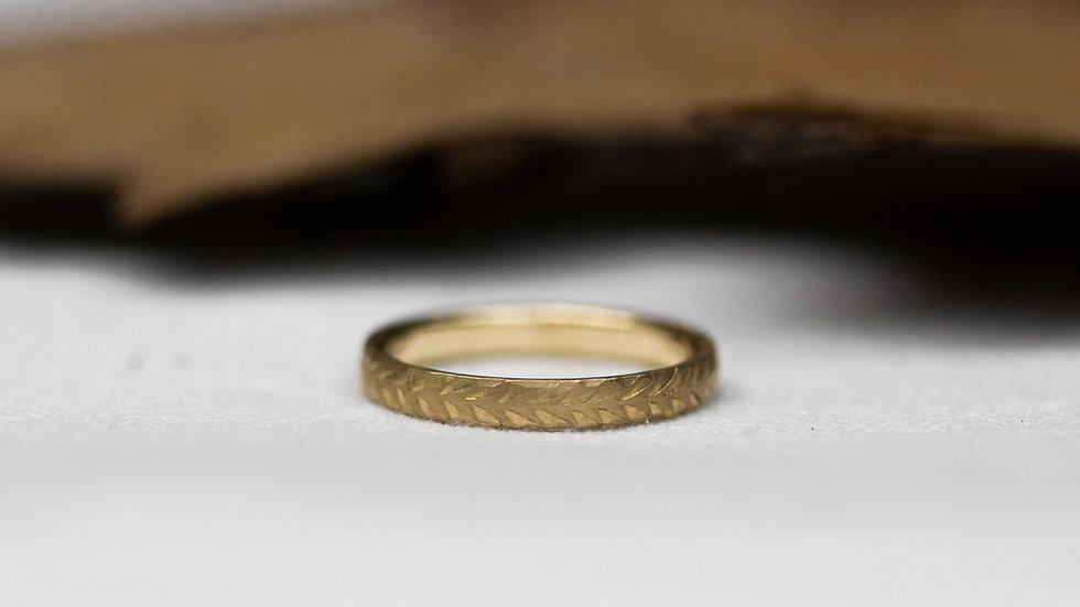 Schatzkiste: Federstruktur - Ring / Ringgröße 49,5