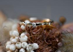 Ring mit 5 Brillanten - Gelbgold