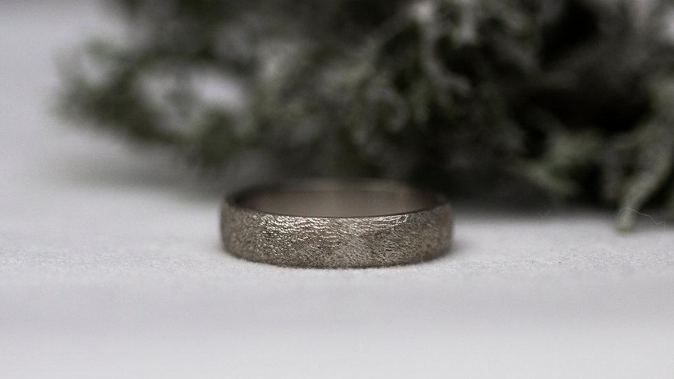 Schatzkiste: Sandstruktur - Ring / Ringgröße 57
