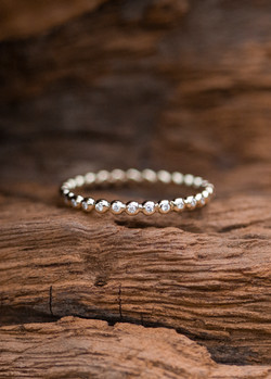 Kugel-Memoire-Ring - Roségold