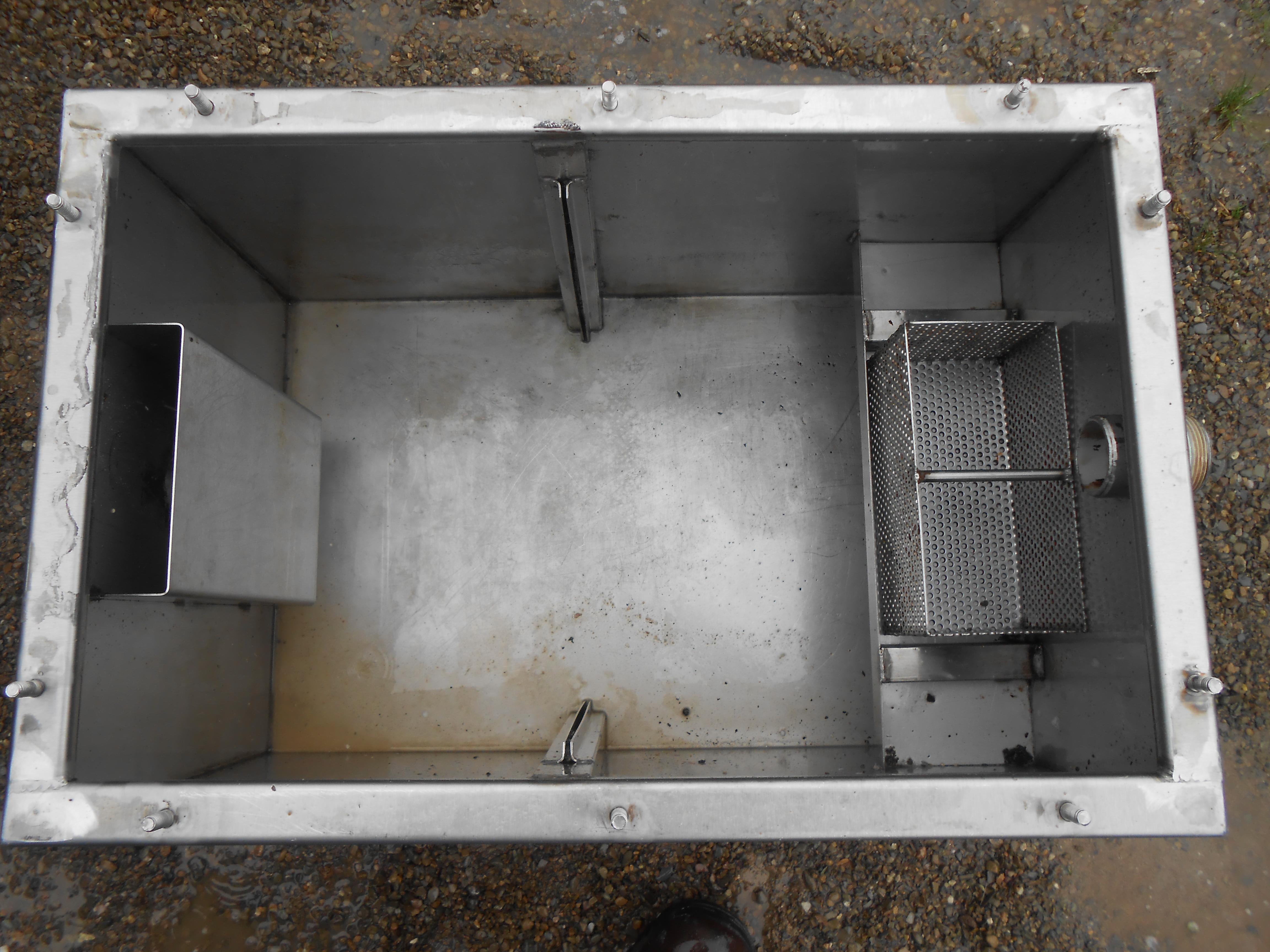 passive grease trap clean