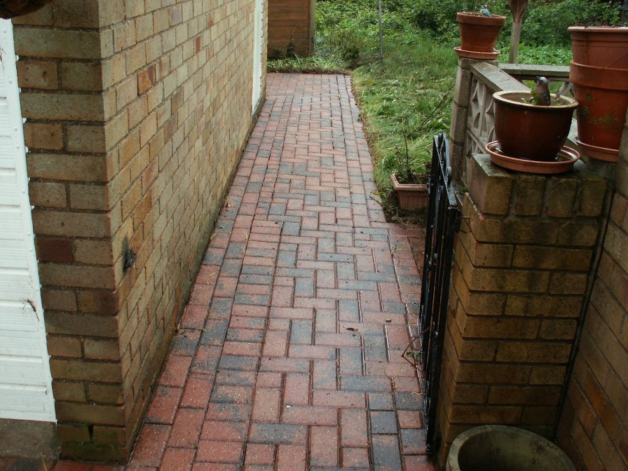 brick paving clean