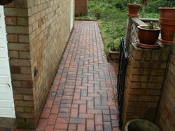 brick paving clean