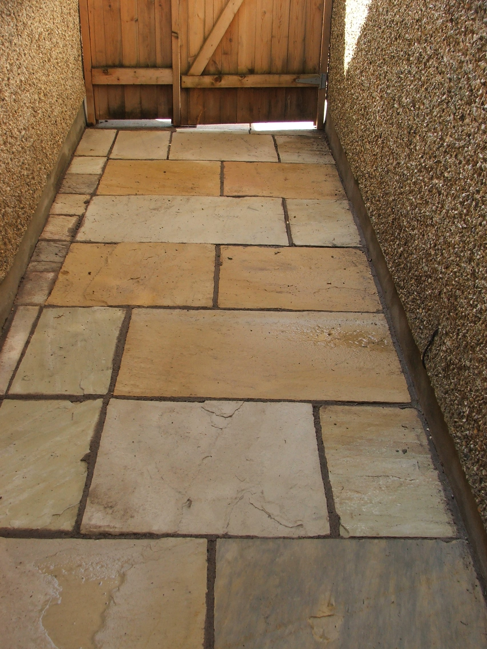 Indian sandstone cleaned
