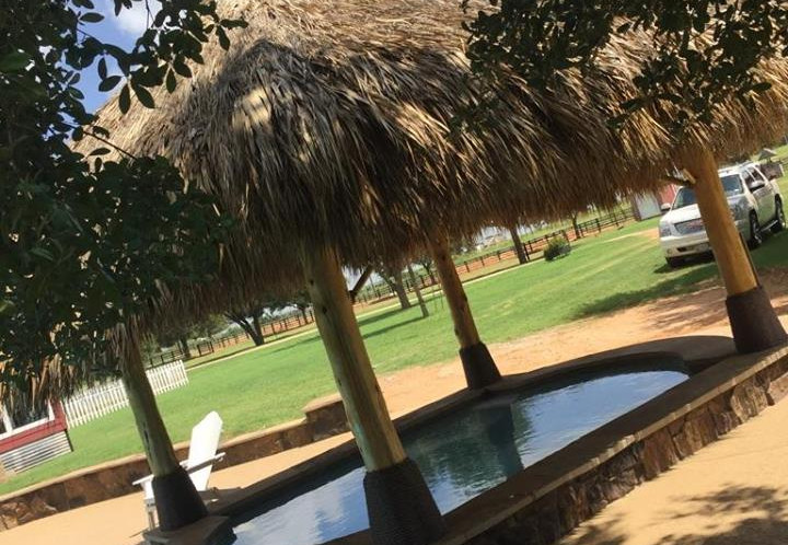 Palapa over the hot tub