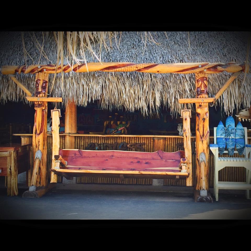 Tiki totem Cedar Swing