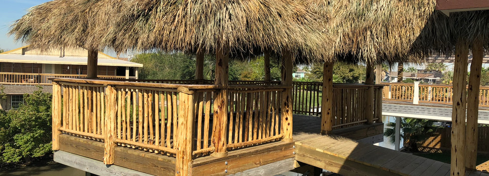 Extension with cedar ralings