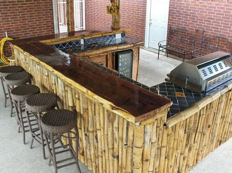 Cedar bartop with Large Bamboo siding