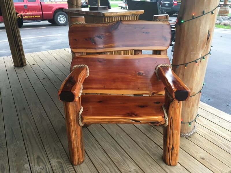 single cedar chair