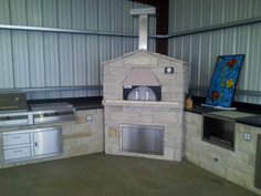 limestone pizza oven
