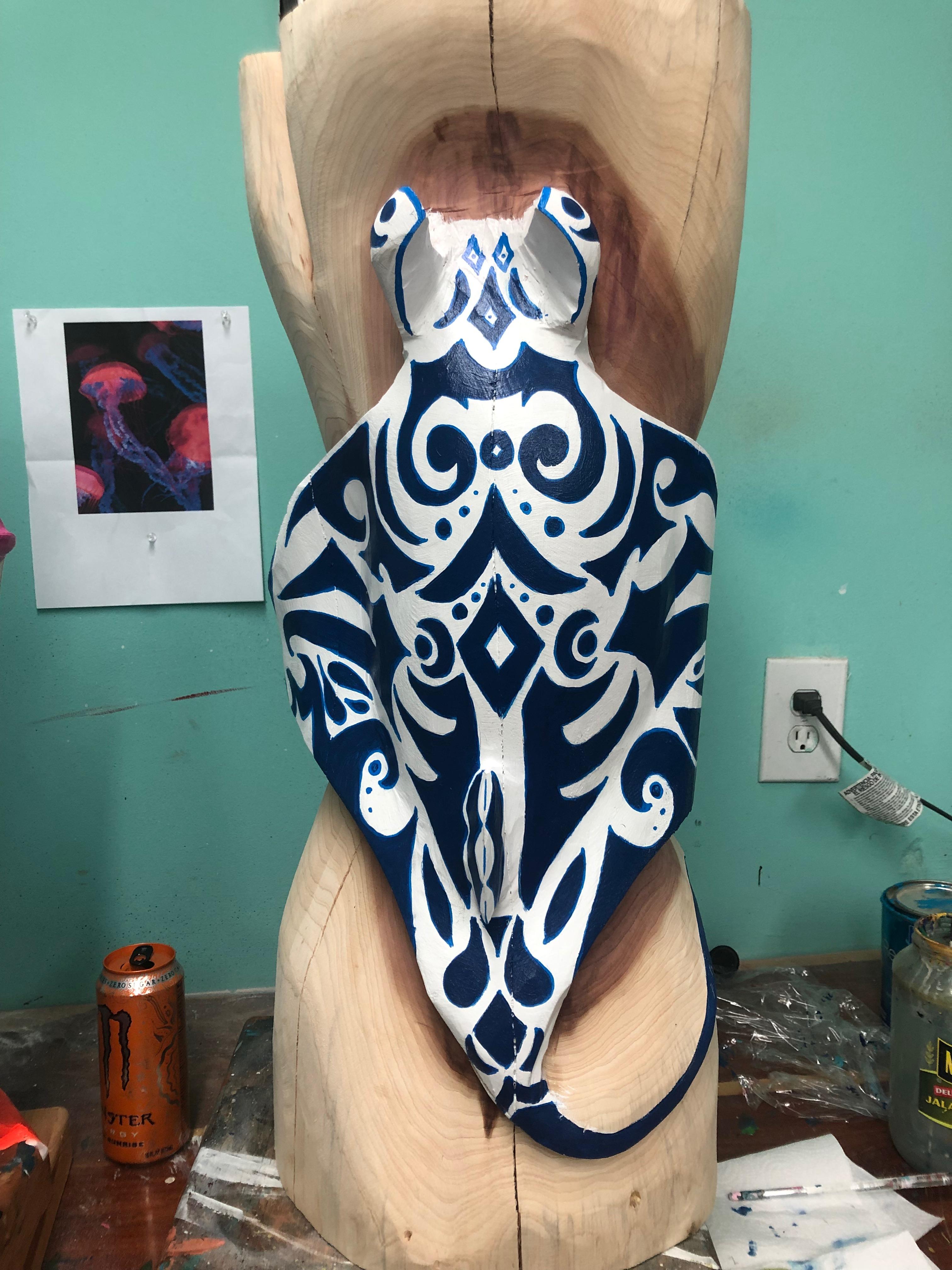 polynesian inspired manta ray