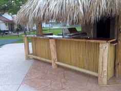 Palapa with kitchen and bamboo bar with cedar top