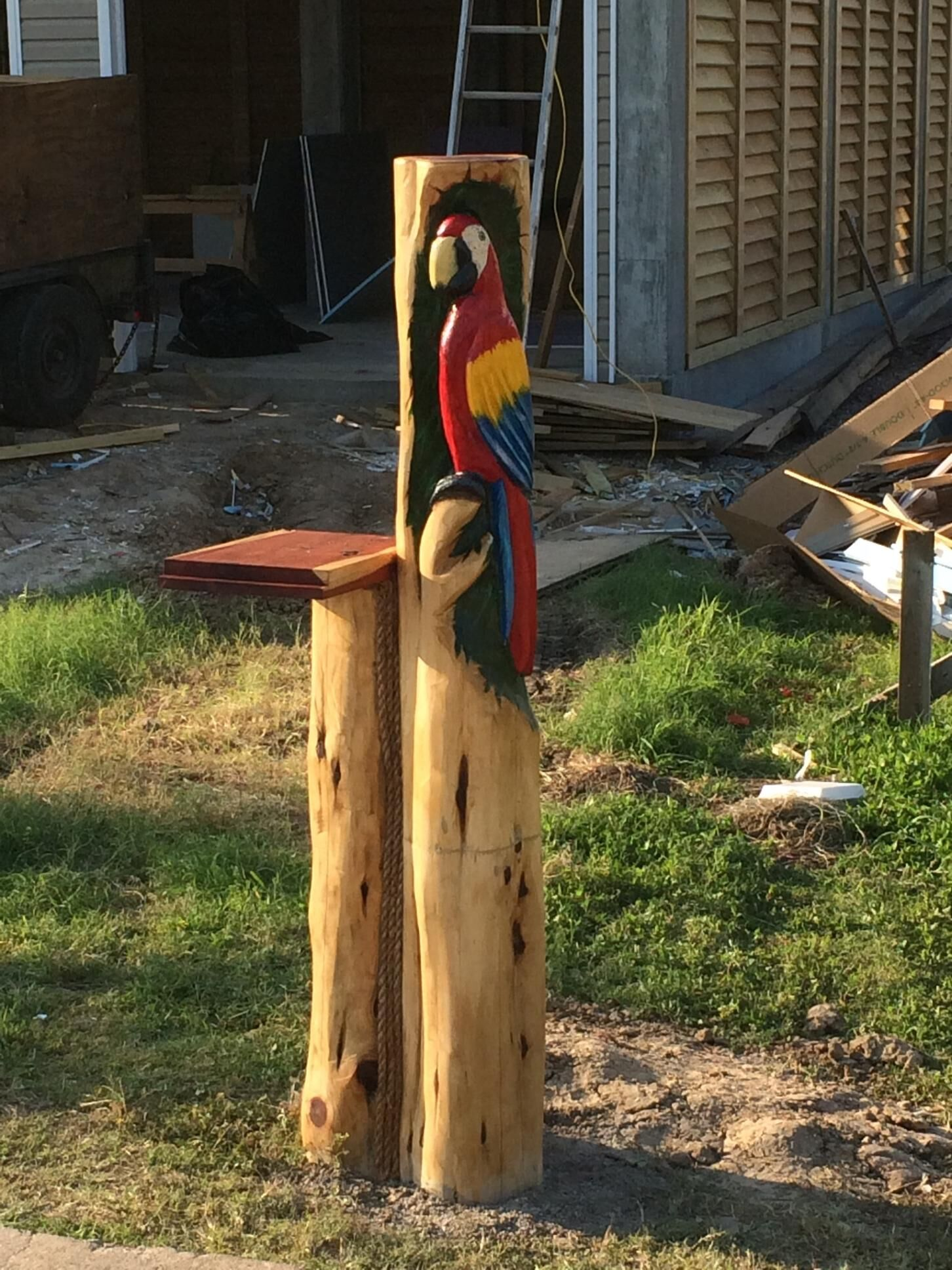 Macaw Mailbox