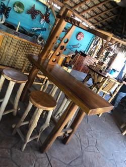 Cedar wine rack w/table