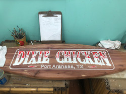 The Dixie Chicken carving