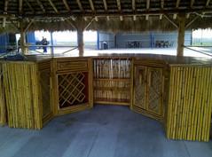 Bamboo siding, bamboo weave, cedar top