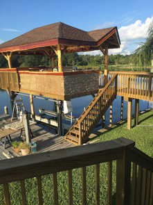 Boat Slip Deck with Roof