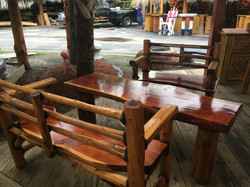 Cedar Benches with table