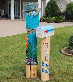 Turtle in the Ocean Mailbox