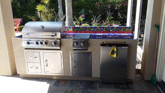 Stainless with tile top